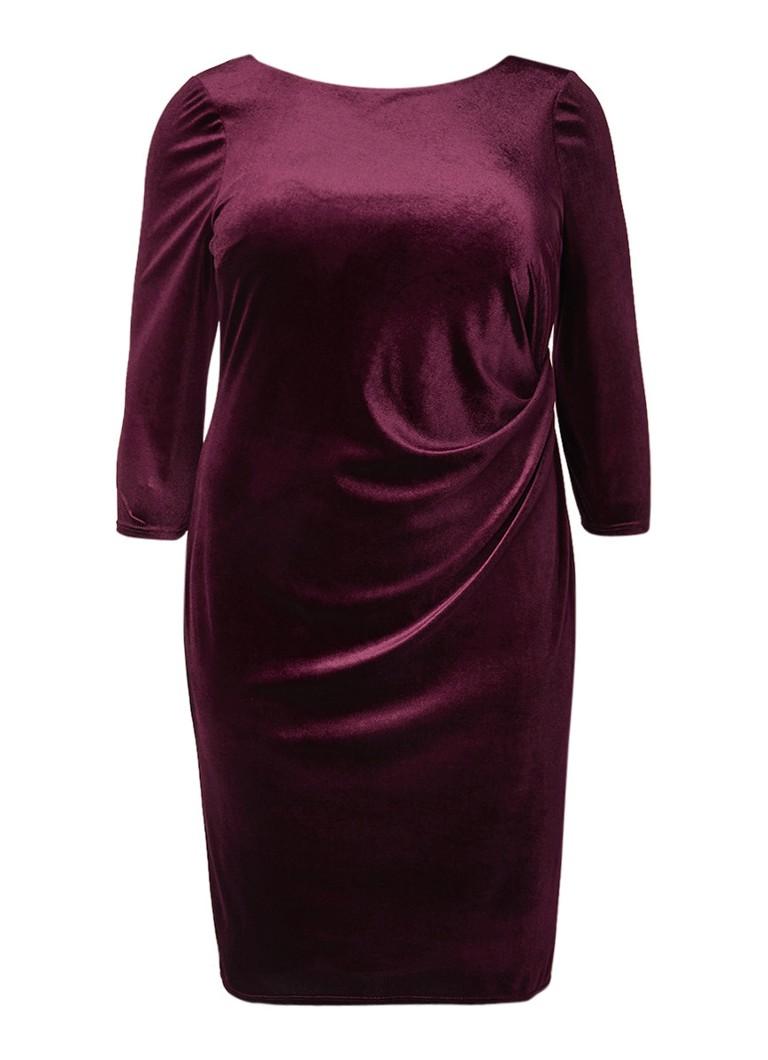 Studio 8 Lindsay jurk van fluweel bordeauxrood
