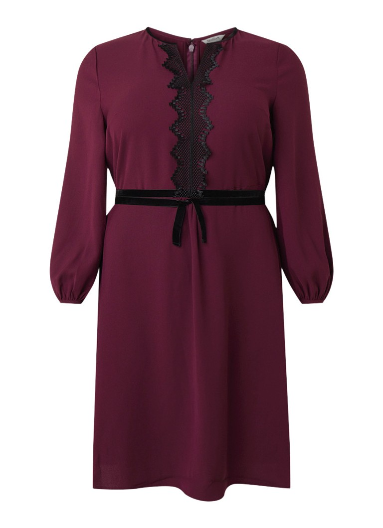 Studio 8 Emerson A-lijn jurk met detail van kant paars