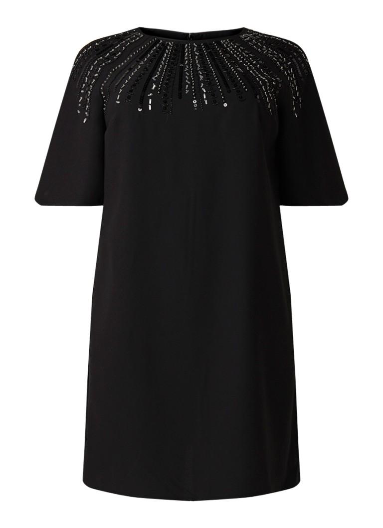 Studio 8 Carrie midi-jurk van crêpe met pailletten zwart