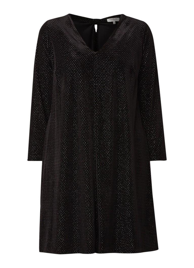Studio 8 Vivian tuniekjurk van fluweel met lurex zwart