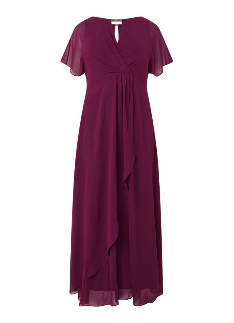 Studio 8 Destiny maxi-jurk met kralen-applicatie aubergine