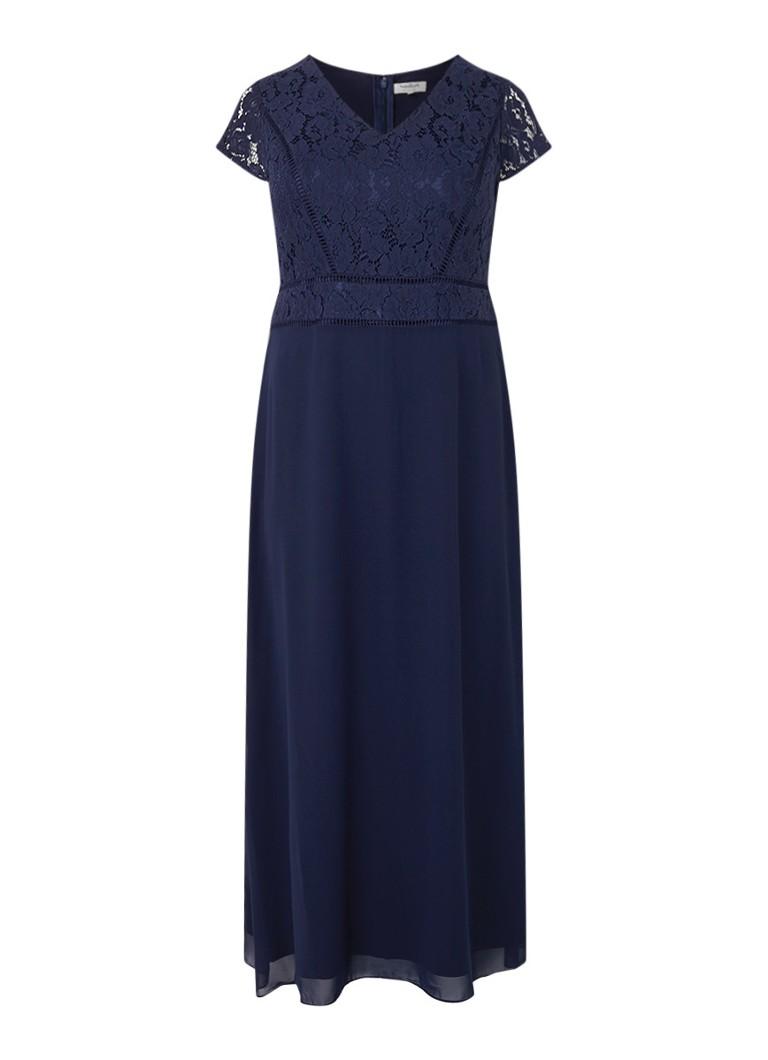 Studio 8 Gemma maxi-jurk met top van guipure kant donkerblauw