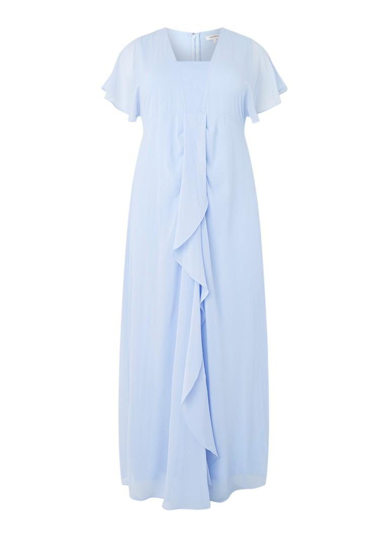 Studio 8 Olympia maxi-jurk met rechthoekige halslijn lichtblauw