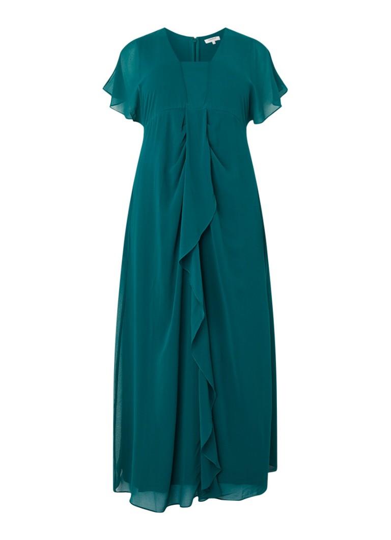 Studio 8 Olympia maxi-jurk met rechthoekige halslijn flessengroen