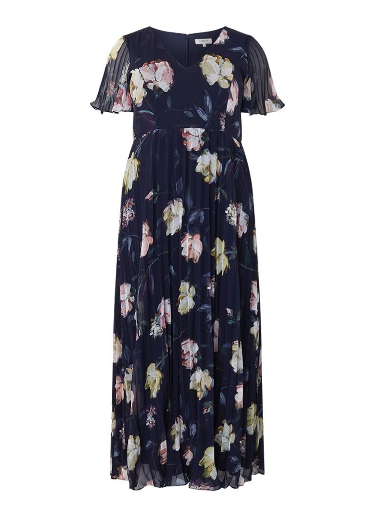Studio 8 Megan geplisseerde maxi-jurk met bloemendessin donkerblauw