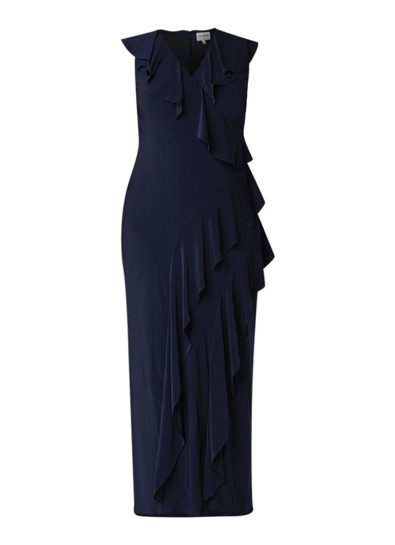 Studio 8 Lida mouwloze maxi-jurk met plissé details donkerblauw