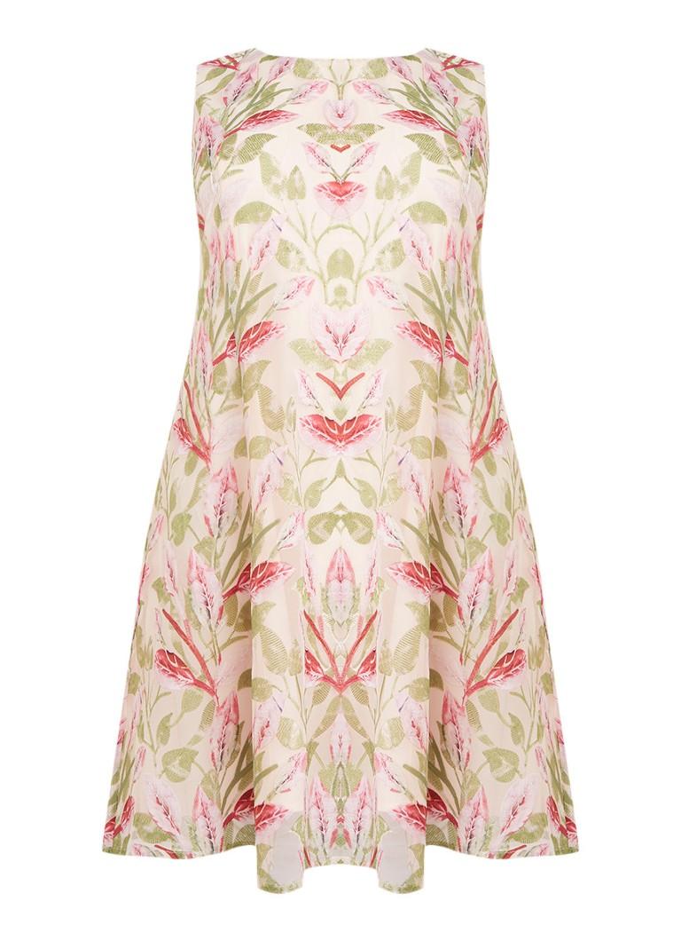 Studio 8 Ursula A-lijn jurk met overlay van mesh en bloemenborduring lichtroze