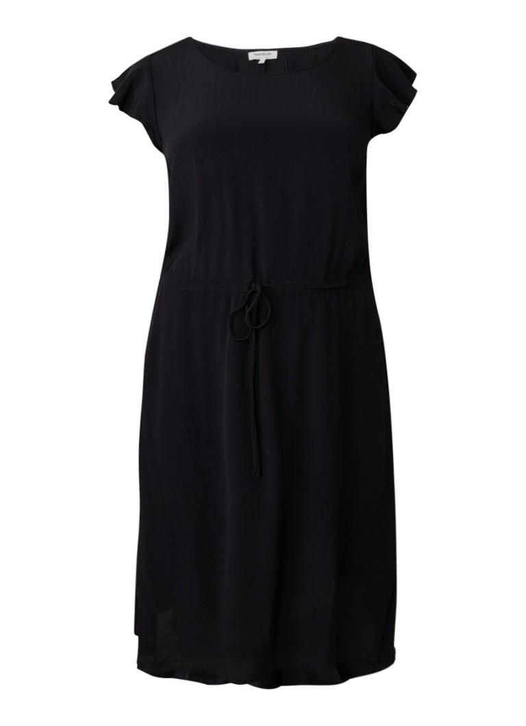 Studio 8 Janine midi-jurk met trekkoord zwart