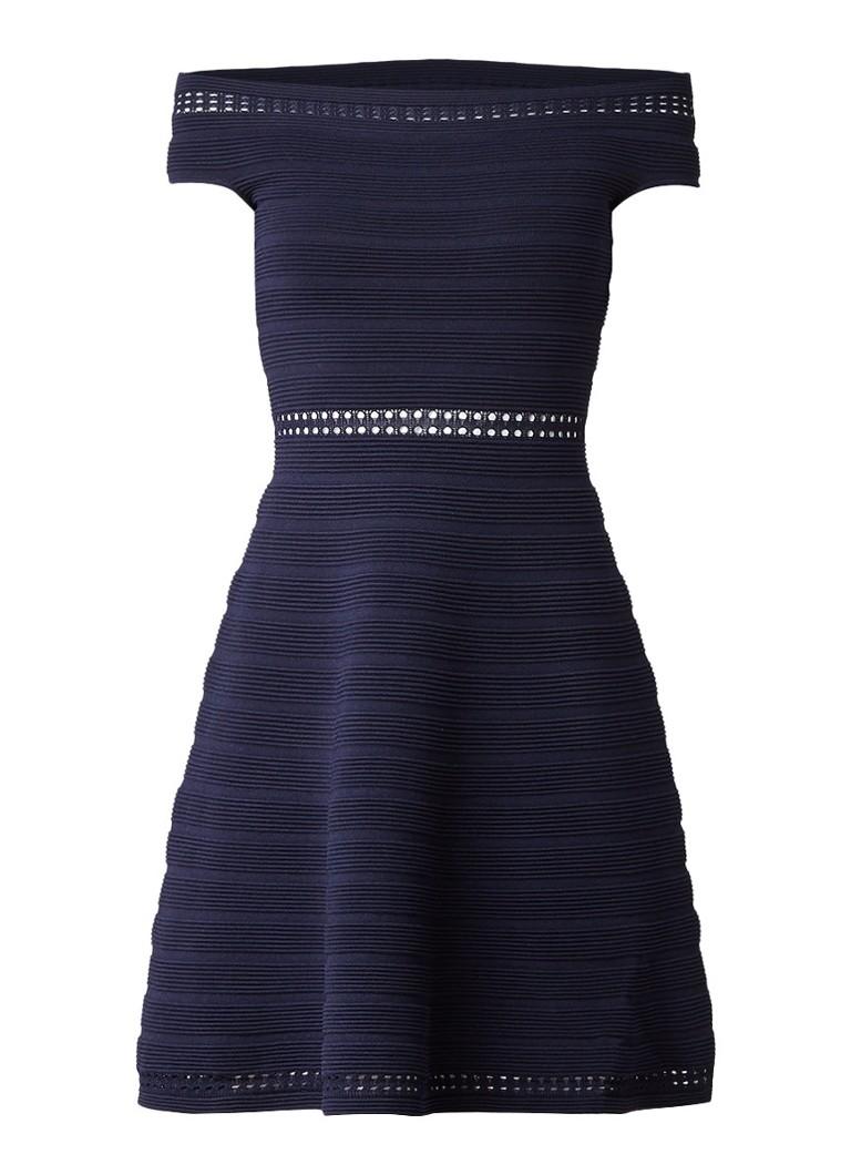 Sandro Off shoulder jurk met opengewerkte details