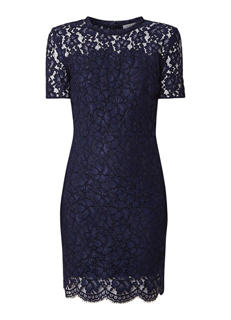 Sandro Rebecca jurk van guipure kant donkerblauw