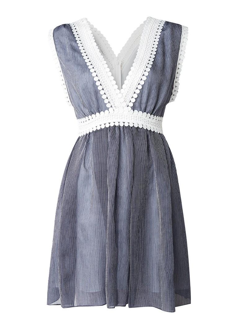 Sandro Alijn jurk met guipure kant