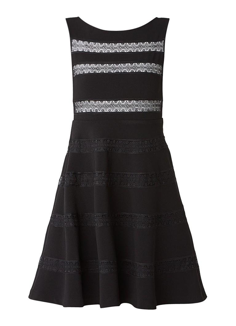 Sandro Xan A-lijn jurk van jersey met broderie zwart