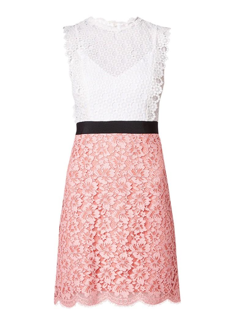 Sandro Jurk van kant met contrasterende rok roze