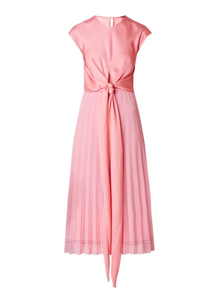 Sandro A-lijn jurk met strikdetail lichtroze