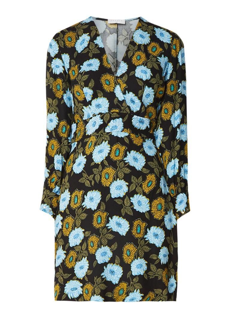 Sandro Mini-jurk met bloemendessin en strass multicolor