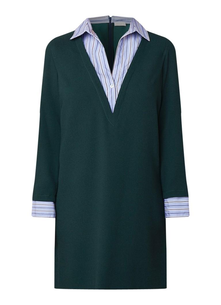 Sandro Tuniekjurk met blouse inzet donkergroen