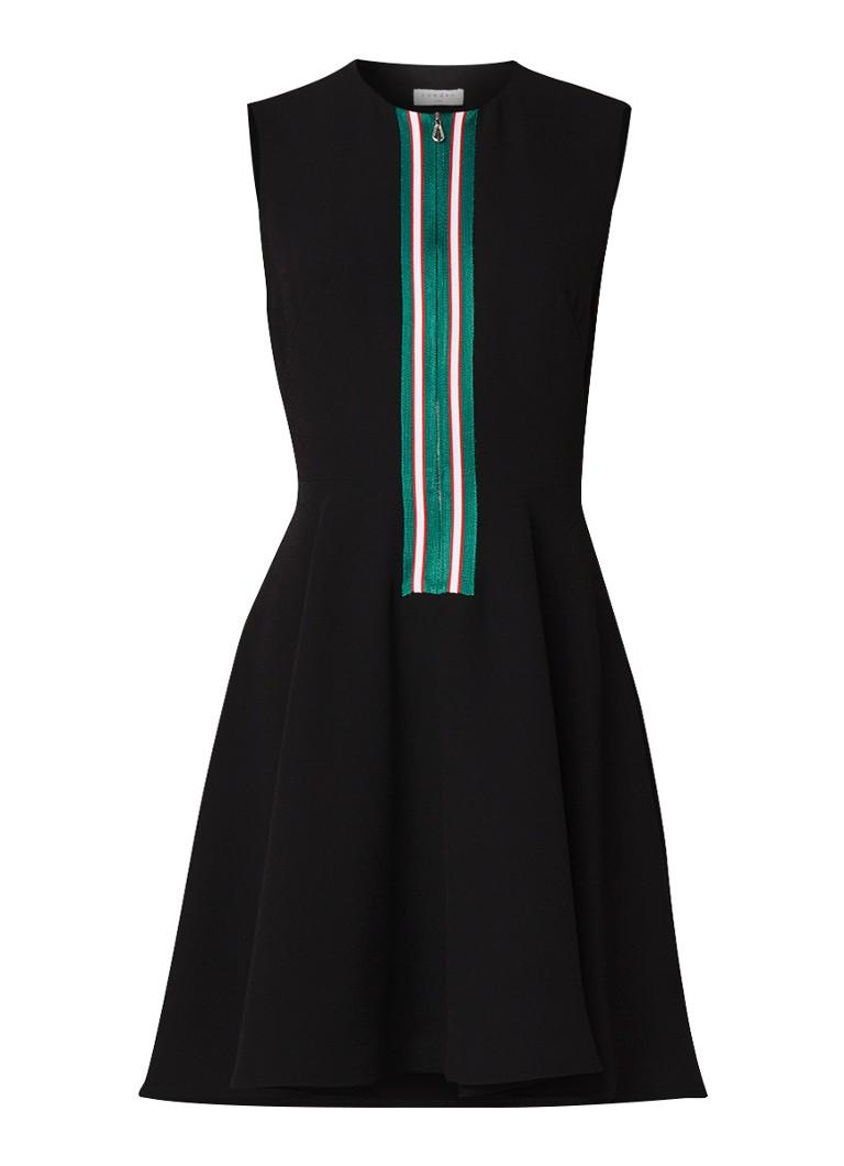 Sandro Mini A-lijn jurk met halve rits zwart