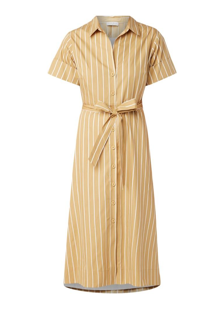 Sandro Stormy blousejurk van katoen met detail van kant okergeel