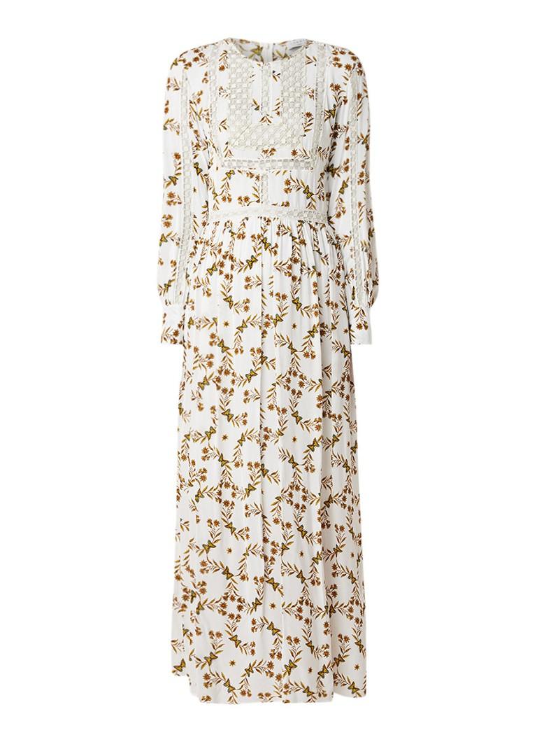 Sandro Arnold maxi-jurk met bloemendessin gebroken wit