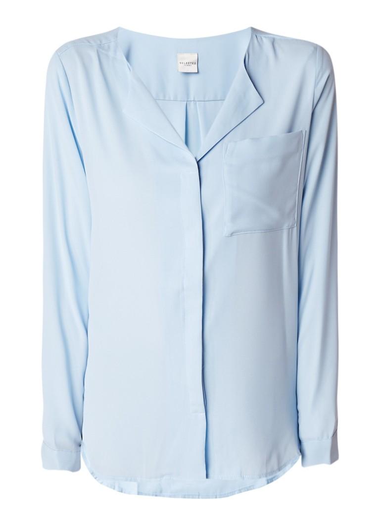 Image of Selected Femme Dynella blouse met borstzak