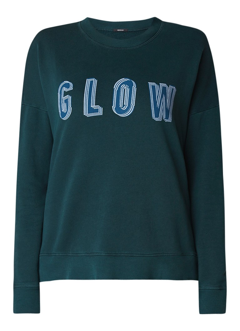 Denham Glow sweater met tekstopdruk