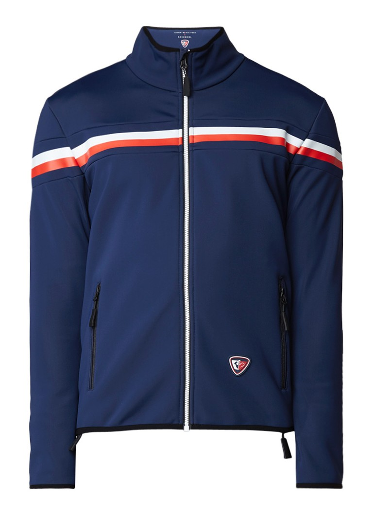 Tommy Hilfiger Russel soft shell jack met streepdetail