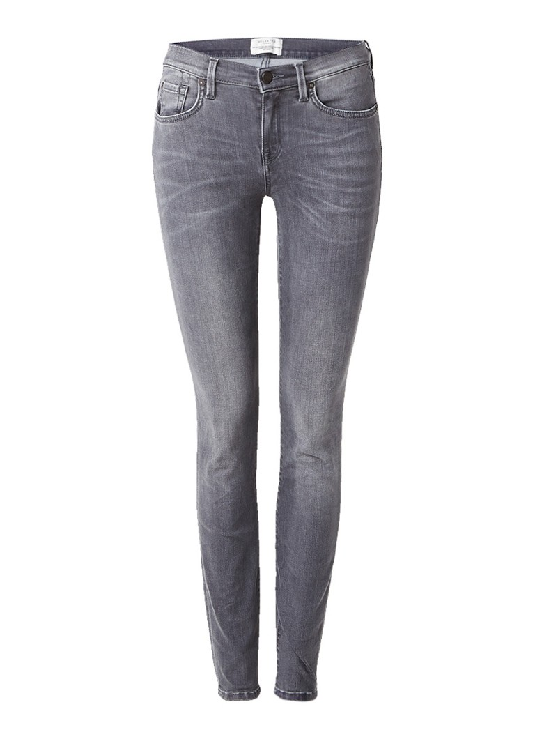 Selected Femme Elena mid rise slim fit jeans met faded look
