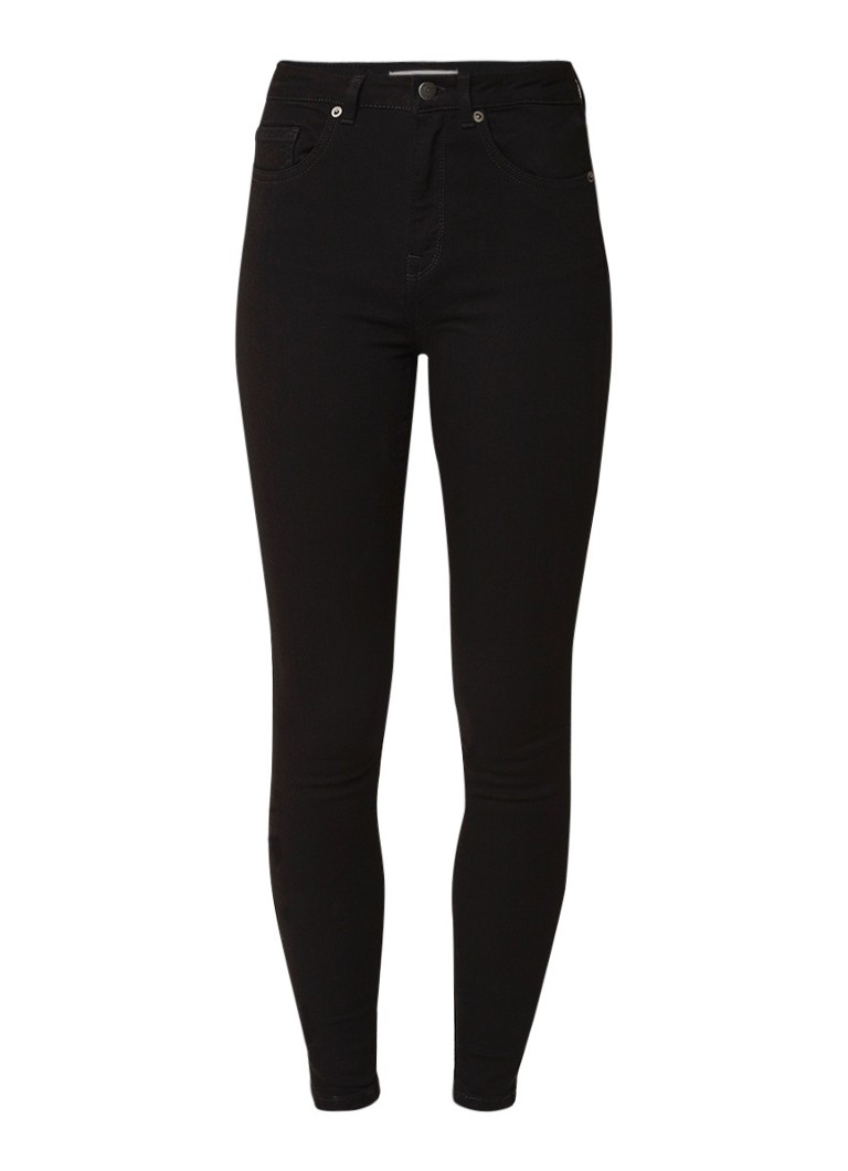 Image of Selected Femme Maggie high rise cropped skinny fit jeans
