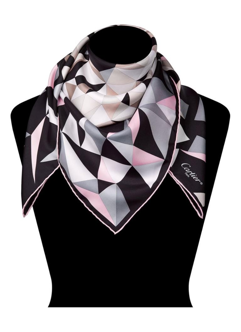 Cartier Panther Pixel Motif sjaal van zijde 90 x 90 cm OS000018