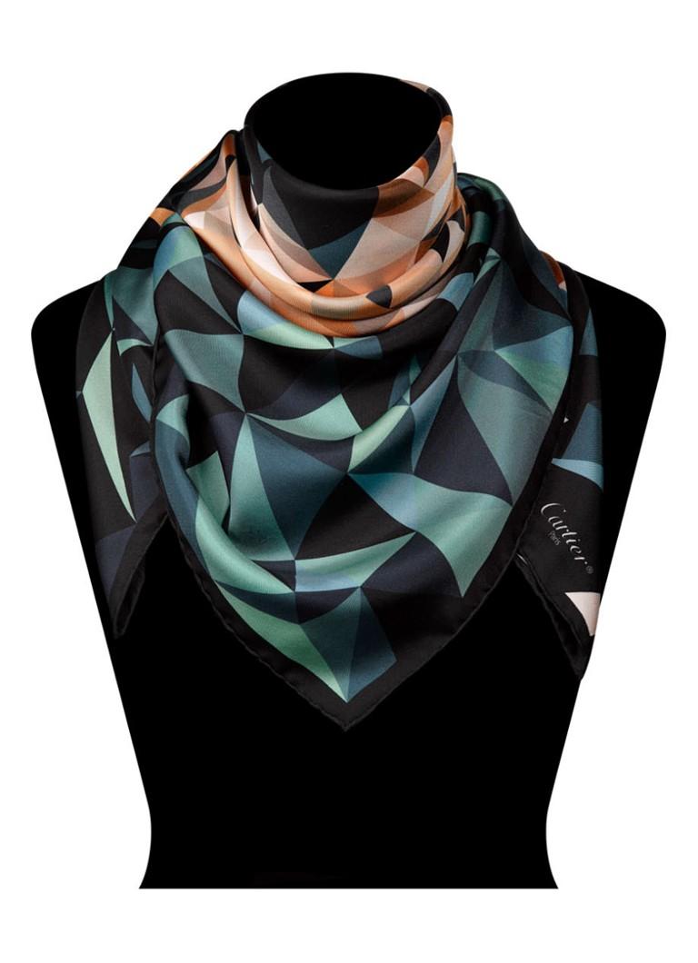 Cartier Panther Pixel Motif sjaal van zijde 90 x 90 cm OS000023