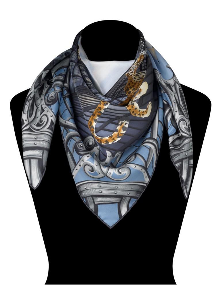 Cartier Sjaal van zijde met L'Odyssée de Cartier dessin 90 x 90 cm T6011527