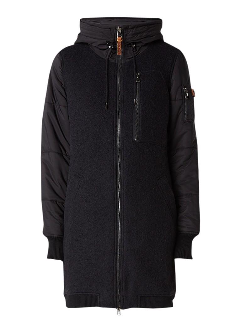 Moscow gewatteerde winterjas zwart
