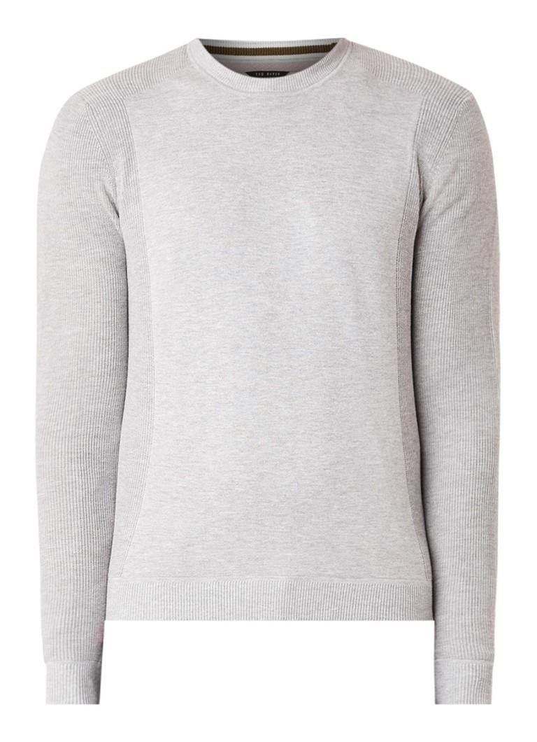 Image of Ted Baker Fijngebreide pullover in katoenblend