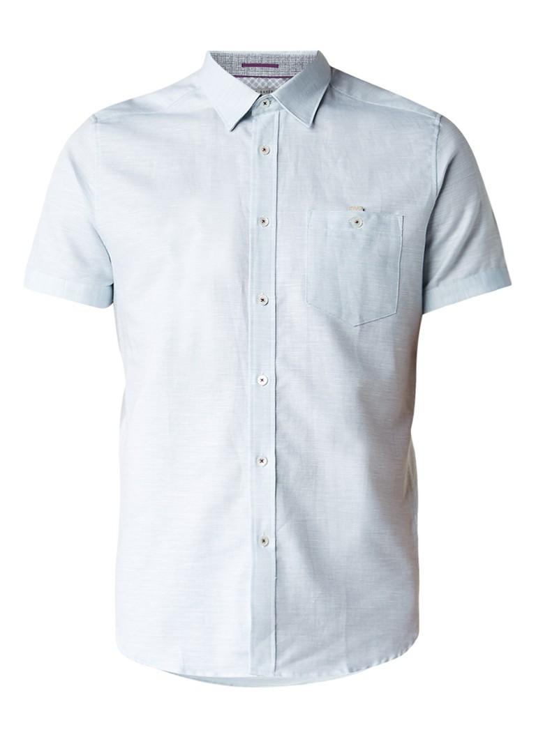 Ted Baker Palpin overhemd met ingeweven gemêleerd dessin