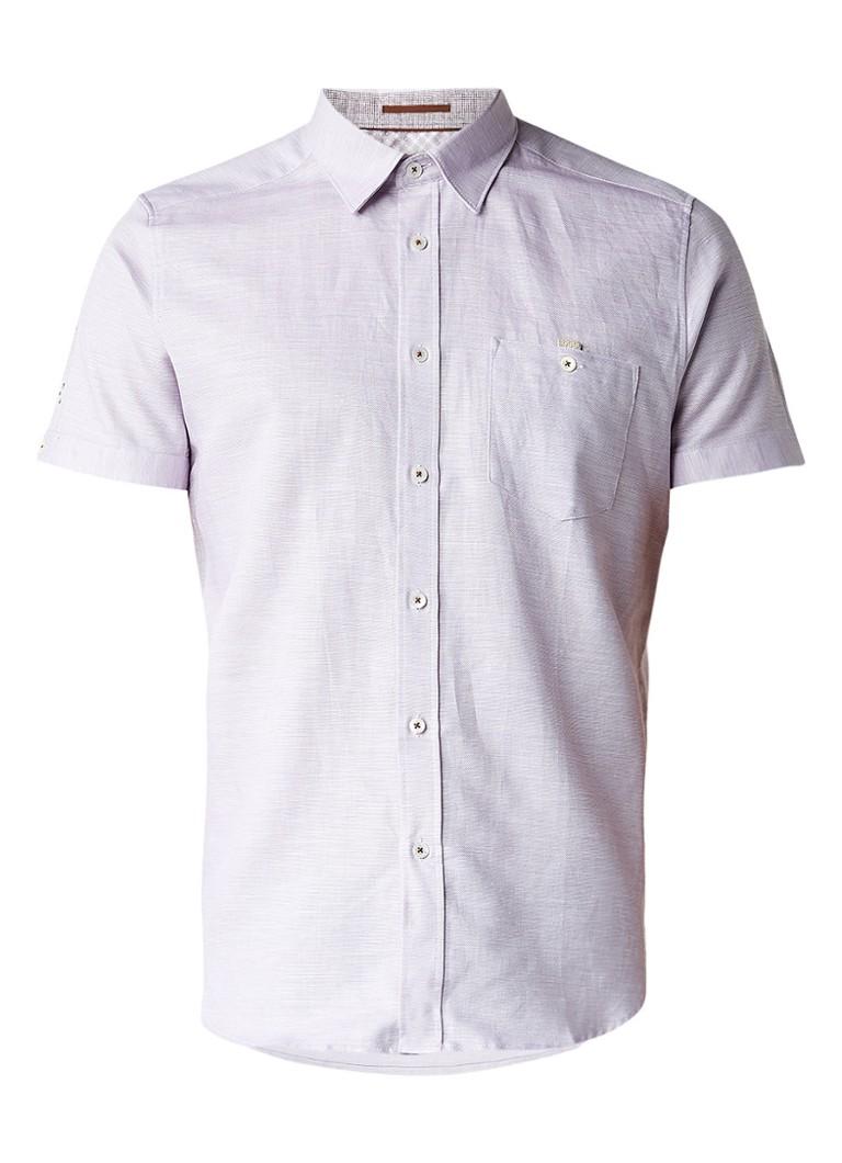 Ted Baker Palpin slim fit overhemd met ingeweven gemêleerd dessin