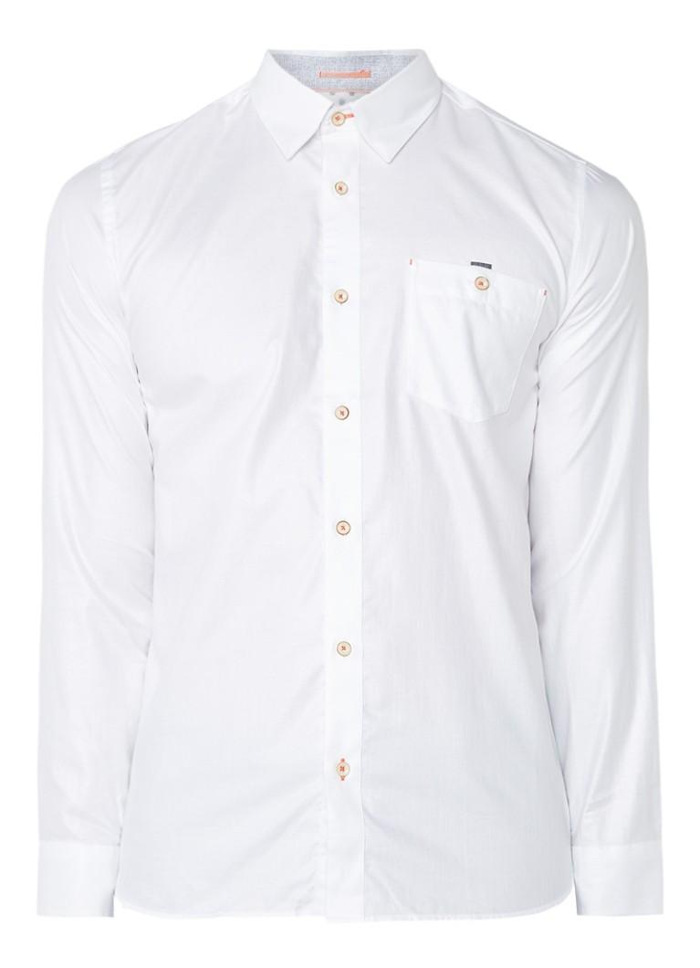 Ted Baker Portmyo slim fit overhemd met borstzak