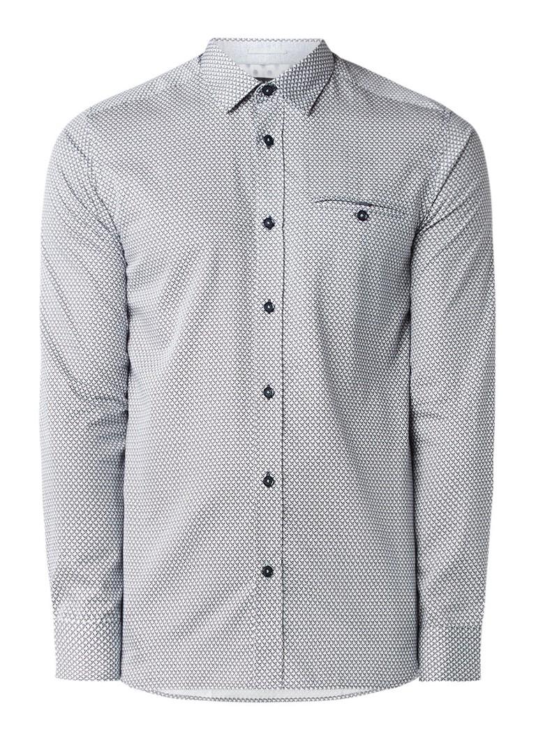 Ted Baker Vilamor slim fit overhemd met geometrisch dessin