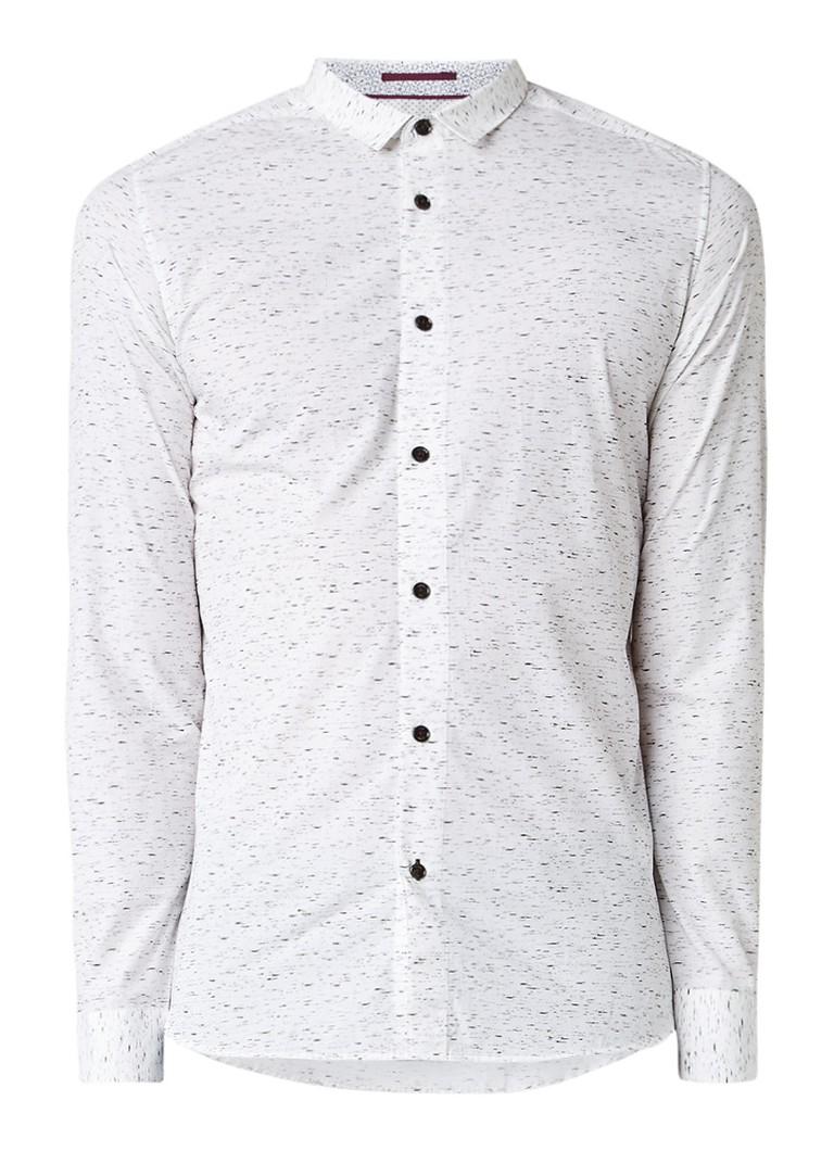 Ted Baker Pantheo slim fit overhemd met gemêleerd dessin