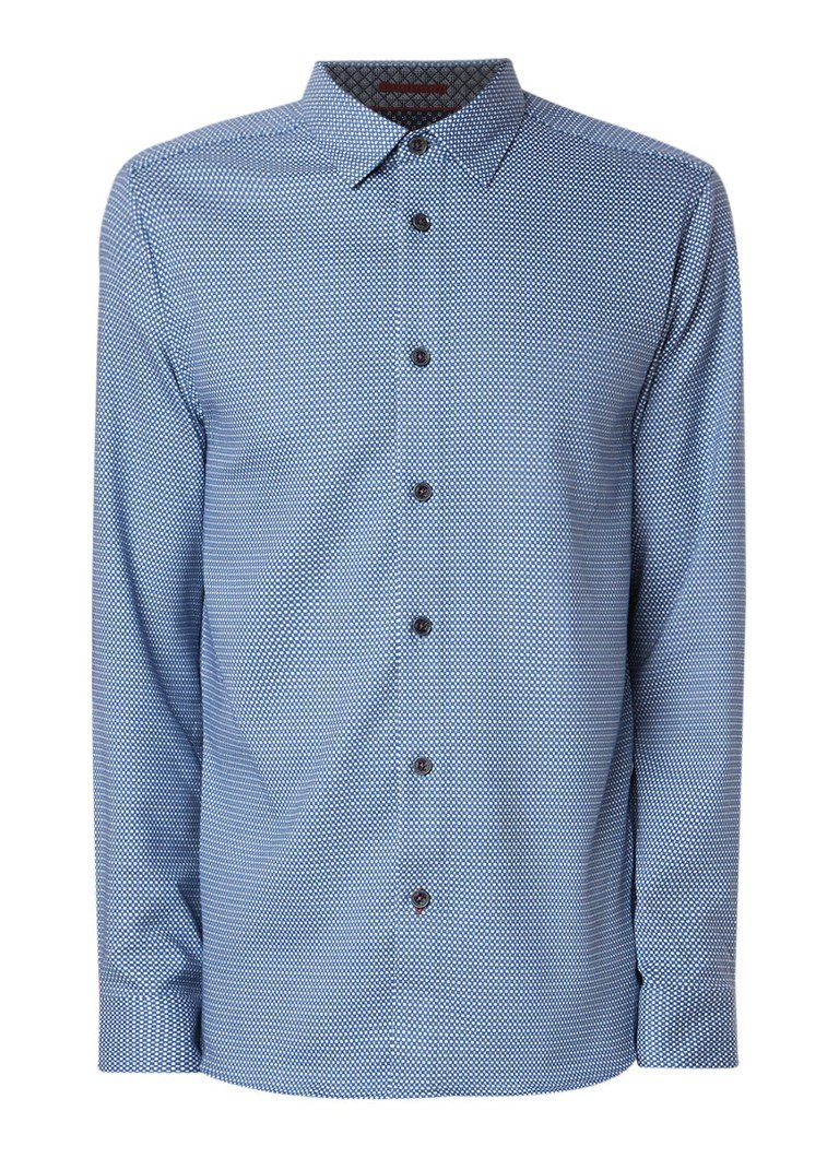 Ted Baker Wapping slim fit overhemd met dessin