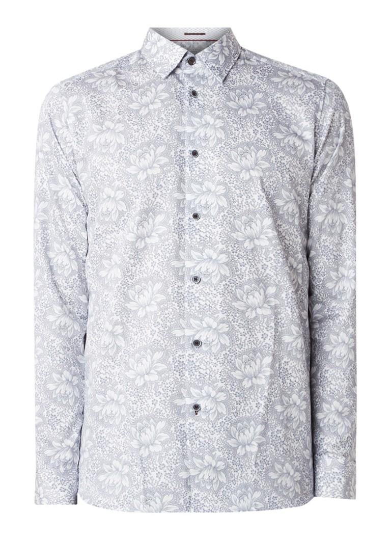 Image of Ted Baker Lambie slim fit overhemd met bloemendessin
