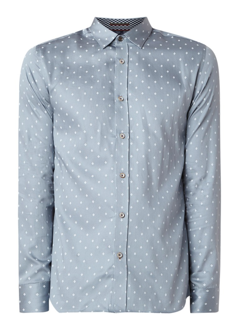 Image of Ted Baker Feret regular fit overhemd met micro dessin