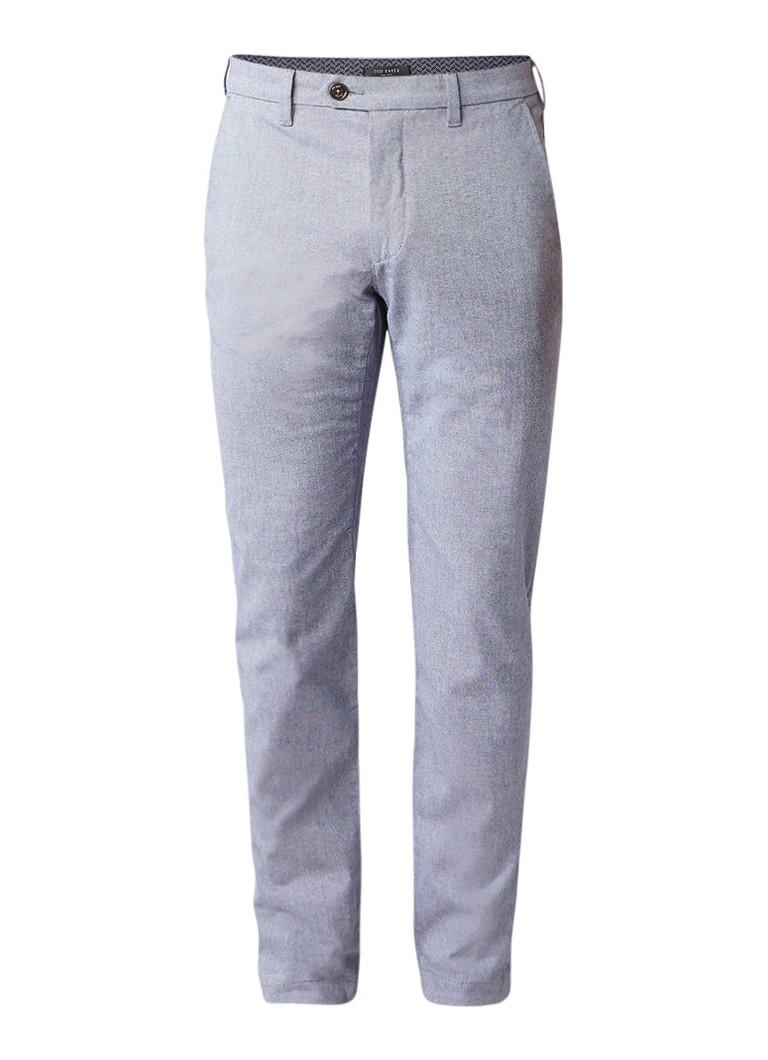 Ted Baker Budwise slim fit pantalon met gemêleerd dessin