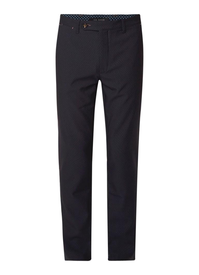 Ted Baker Elloe slim fit pantalon met micro stippendessin