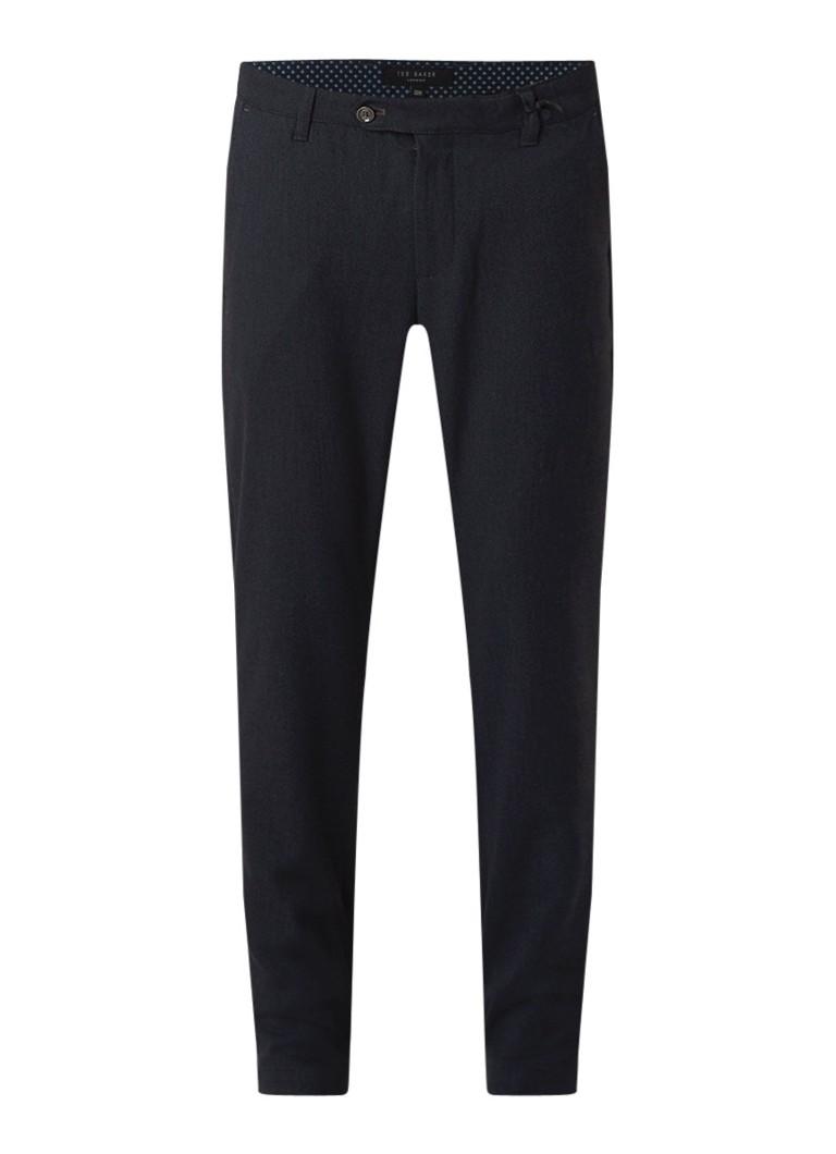 Ted Baker Willham slim fit pantalon met ingeweven structuur