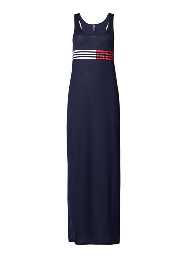 Tommy Hilfiger Maxi jurk van jersey met streepdessin donkerblauw