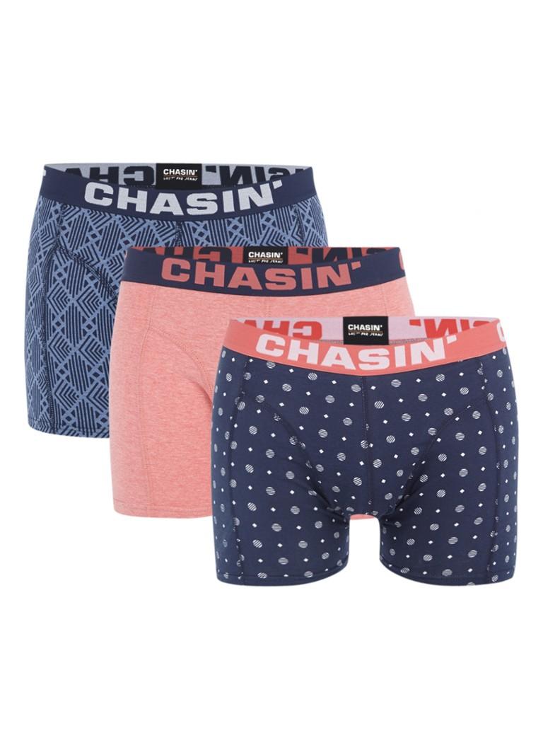 Chasin Thrice Alby boxershorts in uni en dessin in 3-pack