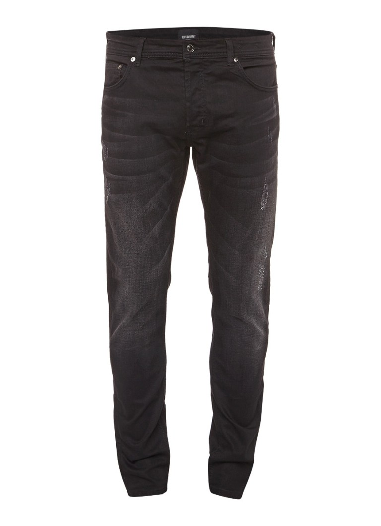 Chasin EGO Slim Pete mid rise slim fit jeans met donkere wassing