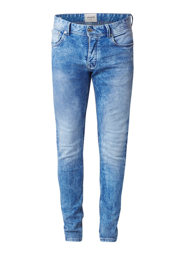 Chasin EGO Slim Jul B3 slim fit jeans met faded details