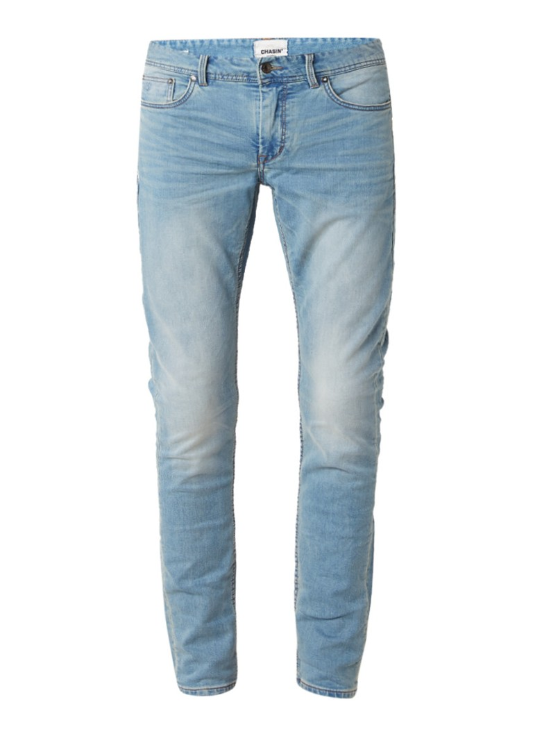 Chasin EGO Slim Wave slim fit jeans in lichte wassing