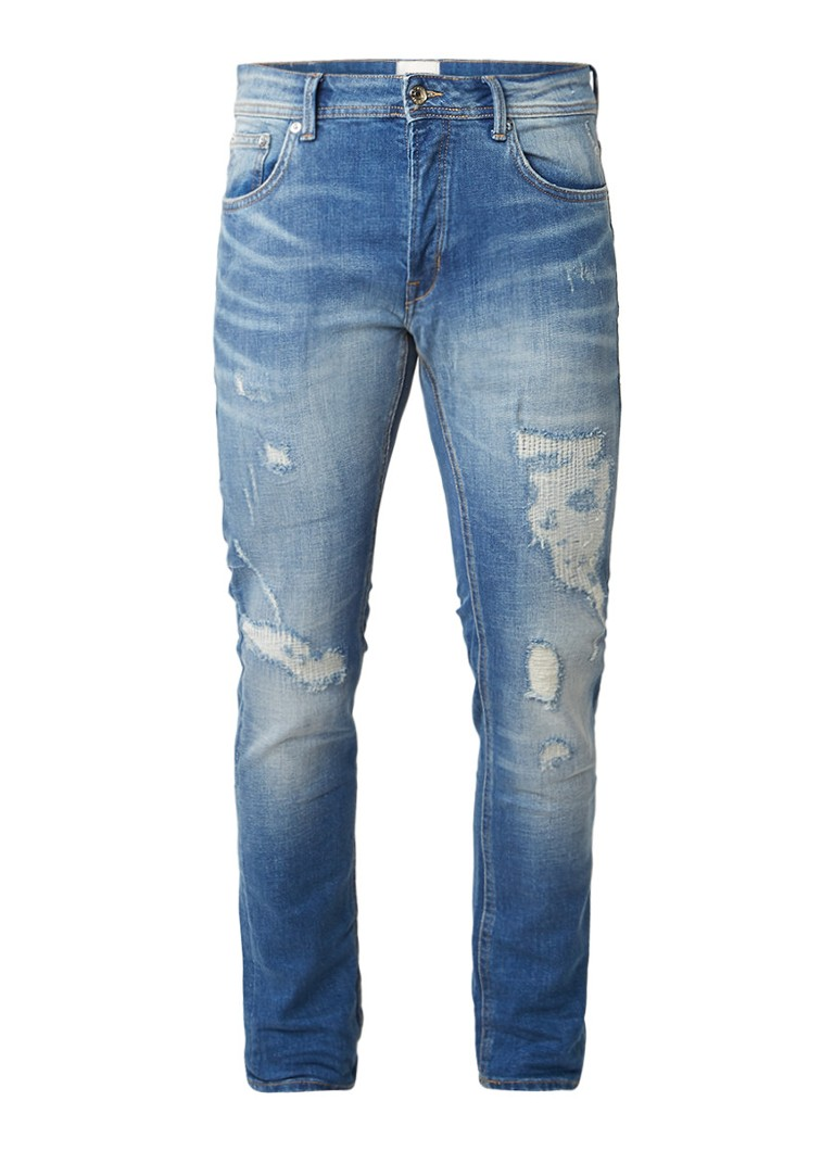 Chasin EGO Slim Dam L3 low rise slim fit jeans met destroyed details